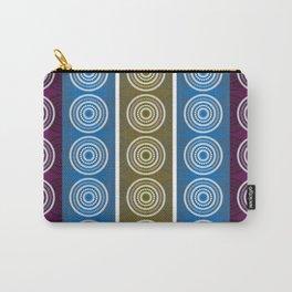 Purple Cornflower Pattern Carry-All Pouch