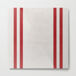 french linen - red Metal Print