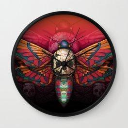 """Death colored moth"" Wall Clock"