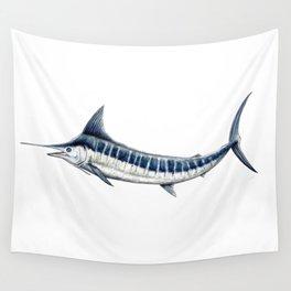 Blue Marlin (Makaira nigricans) Wall Tapestry