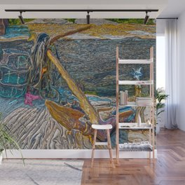 Boat Anchor and Crab Traps Wall Mural