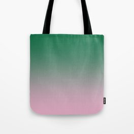 Cadmium Green to Cotton Candy Pink Linear Gradient Tote Bag
