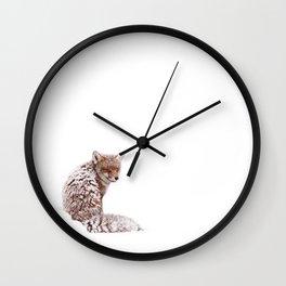 A Fox Fantasy (Red Fox in the snow)  Wall Clock