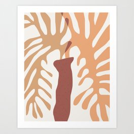 Abstract fern coral Art Print