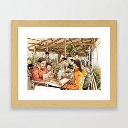 Farm Cafe Framed Art Print