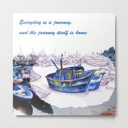 Boat Journey @HK's Cheung Chau Metal Print