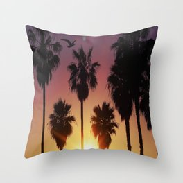Venice Purple Sky Throw Pillow