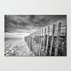 Ocean City Sand Dune Fence Canvas Print