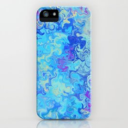 Blue mable iPhone Case