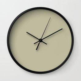 Garden Song ~ Light Olive Green Wall Clock