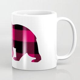 Buffalo Plaid Bear Coffee Mug