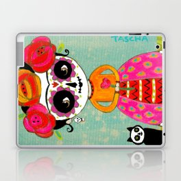 Day Of The Dead Frida with Black Cat Laptop & iPad Skin