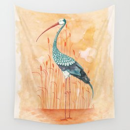 An Exotic Stork Wall Tapestry