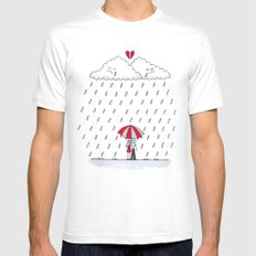 Love stories  MEDIUM White Mens Fitted Tee