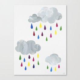 Rainbow Rain Clouds Canvas Print