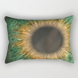 The Green Iris Rectangular Pillow