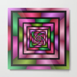 Colorful Tunnel 1 Digital Art Graphic Metal Print