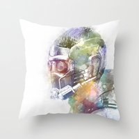 star lord Throw Pillows featuring Star-Lord by NKlein Design
