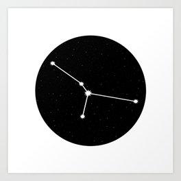 Cancer Star Sign Night Sky Circle Art Print