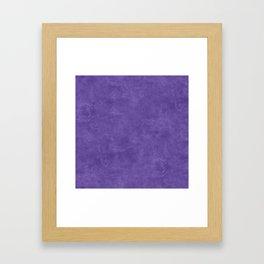 Ultra Violet Oil Pastel Color Accent Framed Art Print