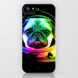 Astronaut Pug iPhone Case