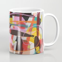 Abstract X Maximum Colorful Pattern Coffee Mug