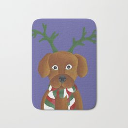 Christmas Pup Bath Mat
