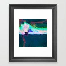 18-23-46 (Skyline Cloud Glitch) Framed Art Print