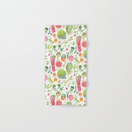 Spring Harvest Pattern Annotated Hand & Bath Towel