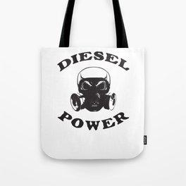 Diesel Power Gas Mask Skull Truck Offroad Black Tote Bag