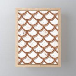 Iced Gingerbread Shingles Framed Mini Art Print