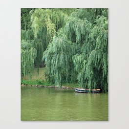 Lakeside Boat Canvas Print