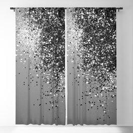 Sparkling Silver Gray Lady Glitter #1 #shiny #decor #art #society6 Blackout Curtain