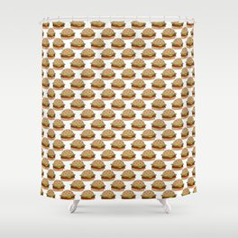 Hamburger - BBQ Doodle Pattern Shower Curtain