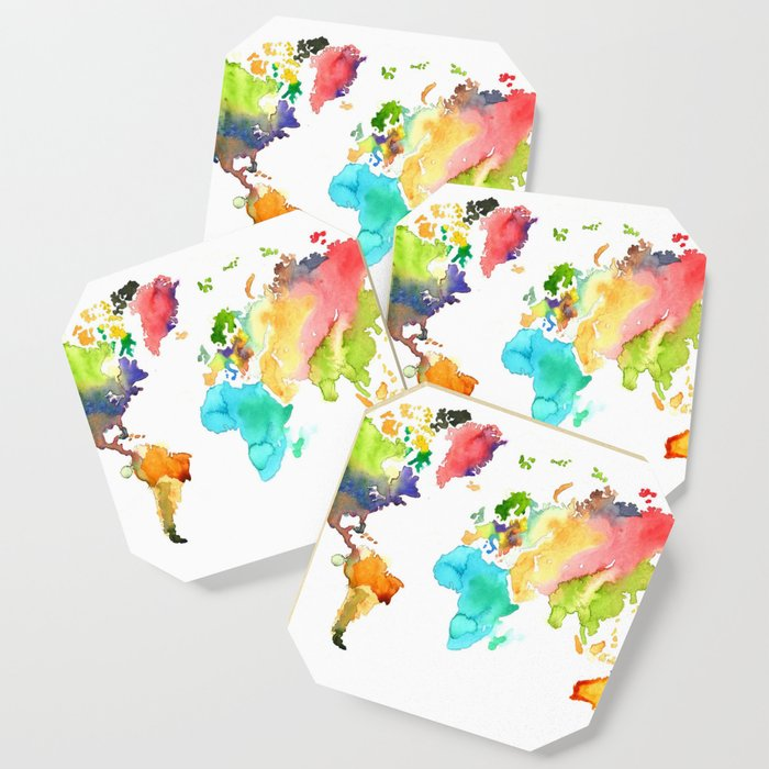 Watercolor World Coaster