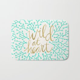 Wild at Heart – Turquoise & Gold Bath Mat