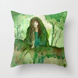 Akka The Earth Goddess Throw Pillow