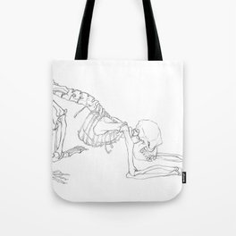 Rhesus Macaque Monkey Skeleton Tote Bag