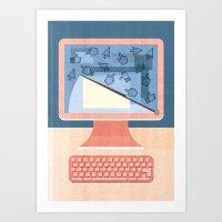 Dealing With Spam Art Print