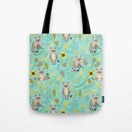 Cute raccoons Tote Bag