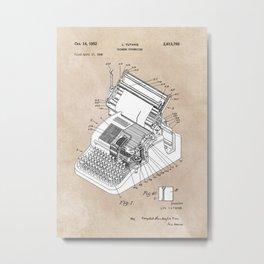 patent art Yutang Chinese typewriter 1952 Metal Print