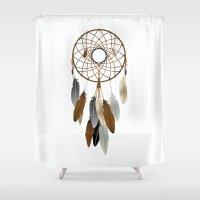 dream catcher Shower Curtains featuring Dream Catcher by Rceeh