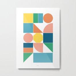Shapes Bright Metal Print