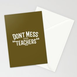 Teachers school funny gift Stationery Cards