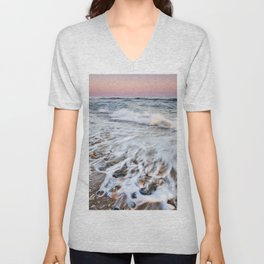 Waves At The Beach. Marbella. At sunset Unisex V-Neck