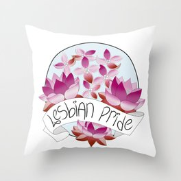 Lesbian Pride Flowers Throw Pillow