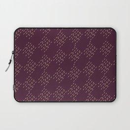 Burgundy checkered pattern Laptop Sleeve