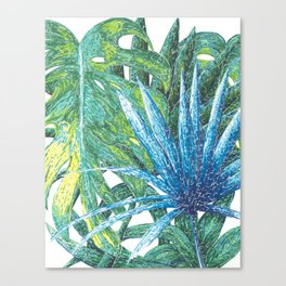 Philodendron & Flora Canvas Print