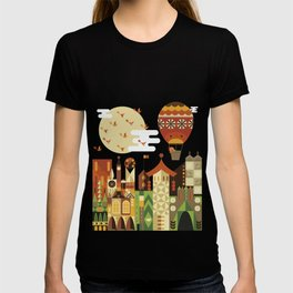 Hot air balloon ride trough the city T-shirt