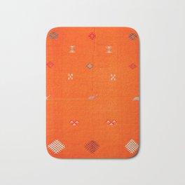 -A10- Traditional Anthropologie Moroccan orange Artwork. Bath Mat